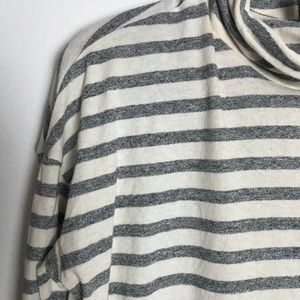 J. Crew Tops - J.Crew deck striped turtleneck S GUC